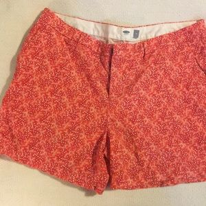 Old Navy Red and White star shorts